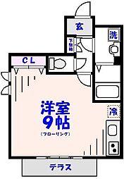 シレーヌ松栄[1階]の間取り