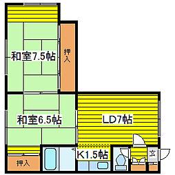 北海道札幌市東区北十七条東7丁目の賃貸アパートの間取り
