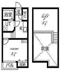 Ampio庄内通[1階]の間取り