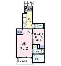 福岡県北九州市門司区大里桃山町の賃貸アパートの間取り