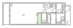 Osaka Metro谷町線 関目高殿駅 徒歩5分の賃貸マンション 5階ワンルームの間取り