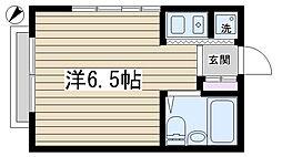 駒込富士ハイツ[210号室]の間取り