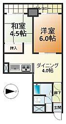 ライオンズマンション四ツ橋[8階]の間取り