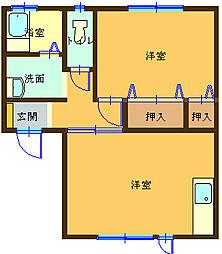 フィレンツェ[D−202号室]の間取り