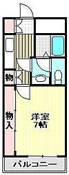 エスポワール鶴山台[305号室]の間取り