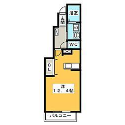 エレガンシアボニート[1階]の間取り