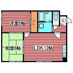 プラザKTM92[3階]の間取り