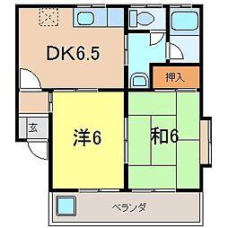 ハイツ桜雅D[101号室]の間取り