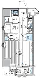 都営三田線 御成門駅 徒歩5分の賃貸マンション 6階1Kの間取り