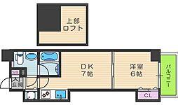 T'sSQUARE天神橋[2階]の間取り