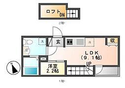 REX新栄[2階]の間取り