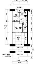 ポートサイド築港[1階]の間取り