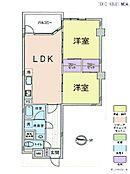 2LDK・専有面積58.28平米・バルコニー面積7.28平米