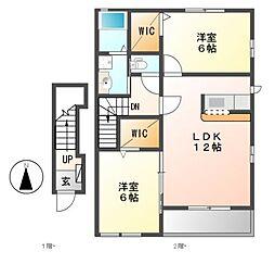 クレディア22[2階]の間取り
