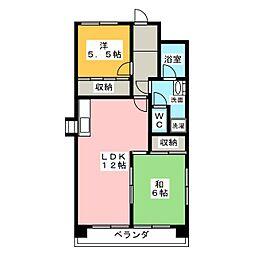 第3田中ビル[4階]の間取り