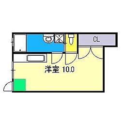 日の出マンション[1階]の間取り