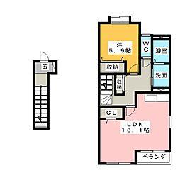 フォレストアオヤマ2[2階]の間取り