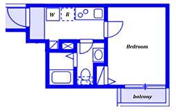 (仮称)ベイルーム藤沢本町2-1号棟 2階1Kの間取り