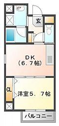 フレール江坂公園[4階]の間取り