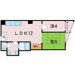 カンシンマンション[2階]の間取り