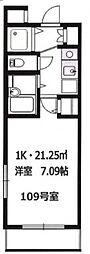 グロース横浜妙蓮寺[1階]の間取り