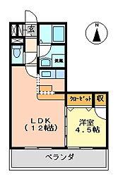 K's2002[216室号室]の間取り