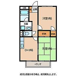 長野県飯田市大瀬木の賃貸マンションの間取り