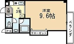 京都府城陽市寺田正道の賃貸マンションの間取り