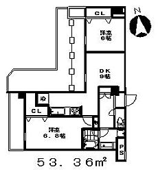 ル・パン・グラン[608号室]の間取り