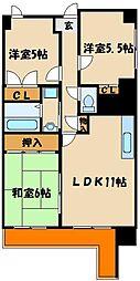 エンゼラート明石[6階]の間取り