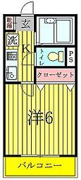 奥富マンション2[304号室]の間取り
