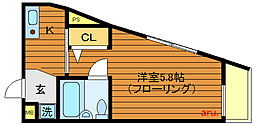 東京都三鷹市下連雀3丁目の賃貸マンションの間取り
