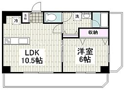 レガーロ 4階1LDKの間取り