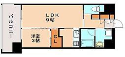 福岡県福岡市博多区元町2丁目の賃貸マンションの間取り