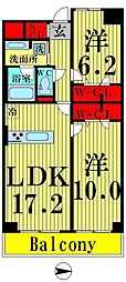 東京都足立区西新井栄町1丁目の賃貸マンションの間取り