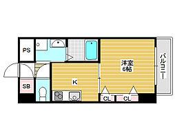 ゴールデンヒルズ3番館[4階]の間取り