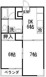 柴崎ピアコート[2階]の間取り
