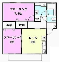 東京都世田谷区喜多見7丁目の賃貸アパートの間取り