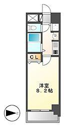 プレサンス名古屋駅前グランヴィル[8階]の間取り