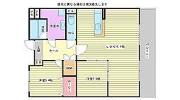 兵庫県加古川市別府町新野辺北町7丁目の賃貸マンションの間取り