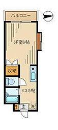 ビクトワール西新宿[106号室]の間取り