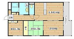 サンパティオ A棟[3階]の間取り
