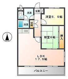 メゾン太田[4階]の間取り