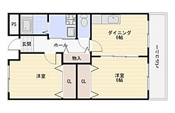 COZYCOURT喜連(コージーコート喜連)[1階]の間取り