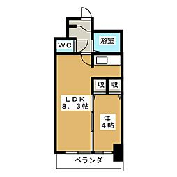 X−OVER 21覚王山[5階]の間取り