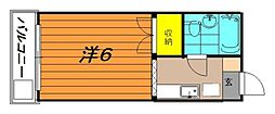 ジュネス喜多川[2階]の間取り