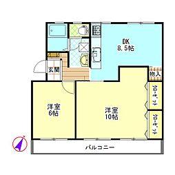 公社中村原住宅2号棟 2DK