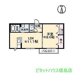 沖洲清流荘 2[B106号室]の間取り