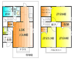 ファミール田井城 D棟[1階]の間取り