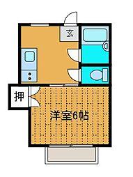 上野毛ハイツ[2階]の間取り